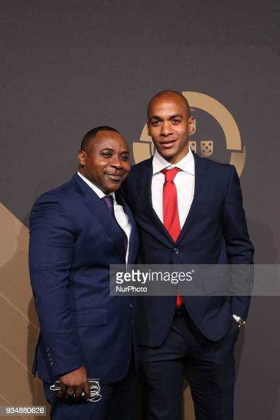 Portugal's midfielder Joao Mario poses on arrival at 'Quinas de Ouro' 2018 ceremony held and the Pavilhao Carlos Lopes in Lisbon on March 19 2018