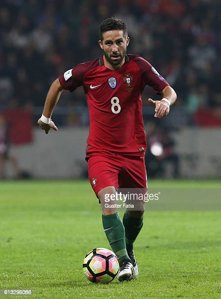 Portugal's midfielder Joao Moutinho in action during the FIFA 2018 World Cup Qualifier match between Portugal and Andorra at Estadio Municipal de...