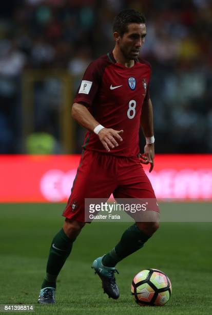 Portugal's midfielder Joao Moutinho in action during the FIFA 2018 World Cup Qualifier match between Portugal and Faroe Islands at Estadio do Bessa...