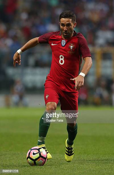 Portugal's midfielder Joao Moutinho in action during the International Friendly match between Portugal and Gibraltar at Estadio do Bessa on September...