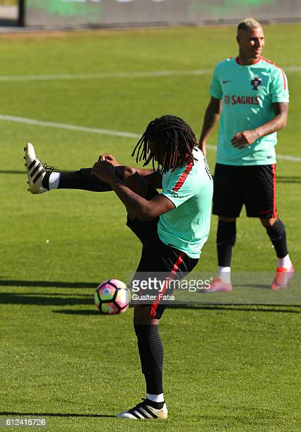 Portugal's midfielder Renato Sanches during Portugal's National Team Training session before the 2018 FIFA World Cup Qualifiers matches against...
