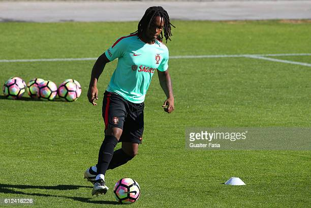 Portugal's midfielder Renato Sanches in action during Portugal's National Team Training session before the 2018 FIFA World Cup Qualifiers matches...