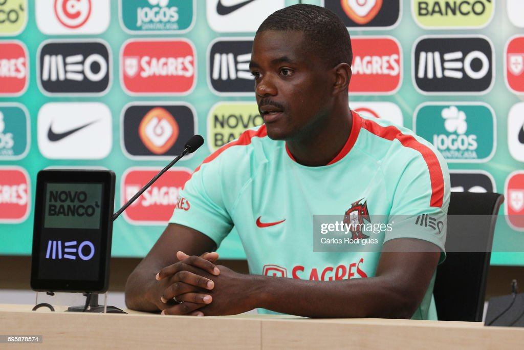 Portugal's midfielder William Carvalho during Portugal Training Session and Press Conference for the Confederations Cup 2017 at Cidade do Futebol on June 14, 2017 in Lisbon, Portugal.
