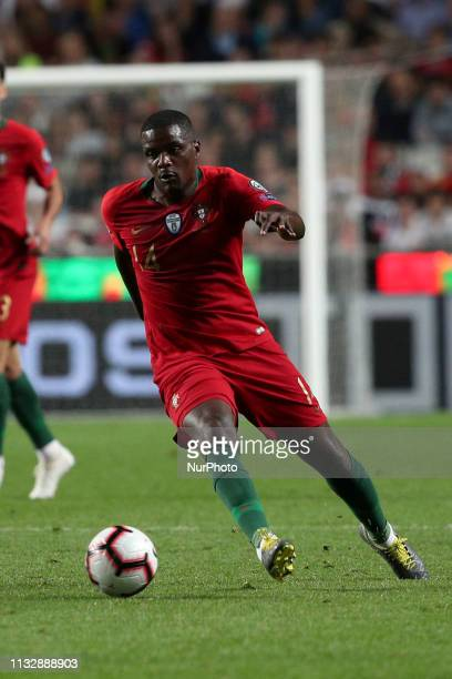 Portugal's midfielder William Carvalho in action during the UEFA EURO 2020 group B qualifying football match Portugal vs Serbia at the Luz Stadium in...