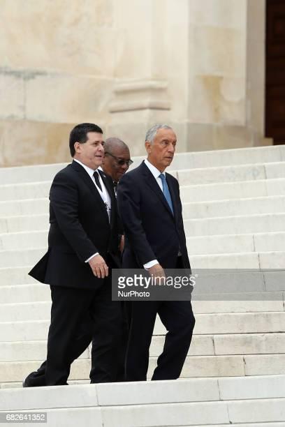 Portugal's President Marcelo Rebelo de Sousa Paraguai's President Horacio Cartes and the President of the Democratic Republic of So Tom and Prncipe...