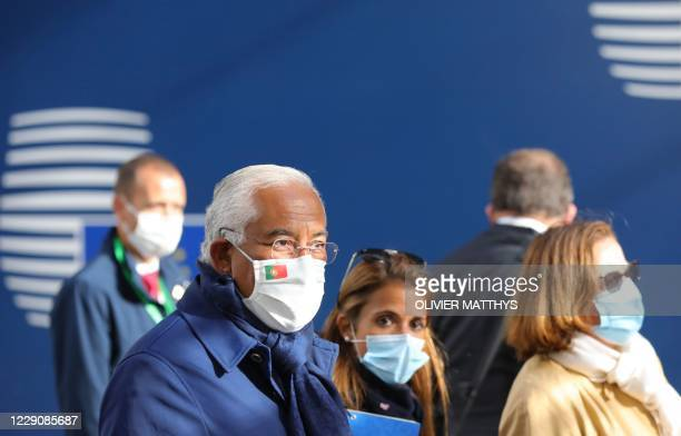 Portugal's Prime Minister Antonio Costa arrives for a two days European Union summit at the European Council Building in Brussels, on October 15,...