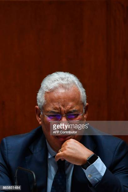 Portugal's Prime Minister Antonio Costa attends the debate of a censure motion tabled by the conservative CDSPP party at the Portuguese parliament in...