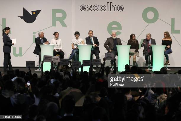 Portugal's Prime Minister Antonio Costa Mayor of Lisbon Fernando Medina European commission executive vicepresident Frans Timmermans and United...