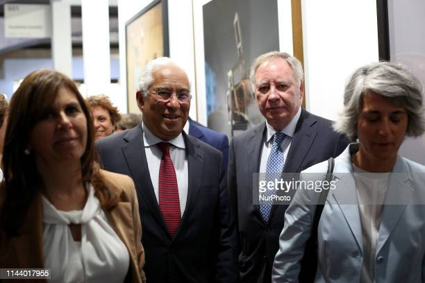 Portugal's Prime Minister Antonio Costa with his wife Fernanda Tadeu , President of the Executive Committee of Ifema, Clemente Gonzalez and...
