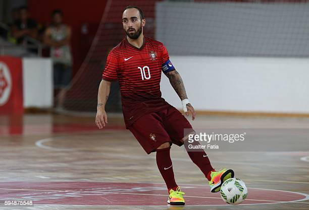 PortugalÕs Ricardinho in action during the Futsal International Friendly match between Portugal and Morocco at Pavilhao Fidelidade on August 24 2016...