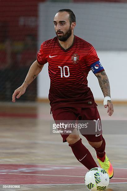 Portugal's Ricardinho in action during the Futsal International Friendly match between Portugal and Morocco at Pavilhao Fidelidade on August 24 2016...