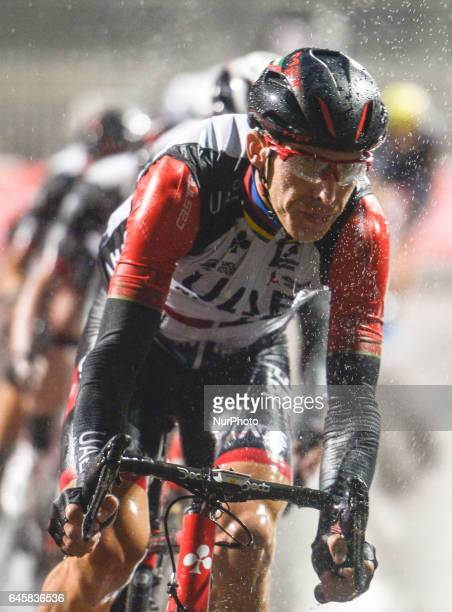 Portugal's Rui Costa from UAE Emirates Team in action during the fourth stage a 143km Yas Island Stage at the F1 Yas Marina circuit On Sunday...