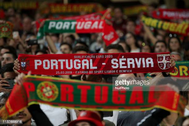 Portugal's supporters the UEFA EURO 2020 group B qualifying football match Portugal vs Serbia at the Luz Stadium in Lisbon Portugal on March 25 2019