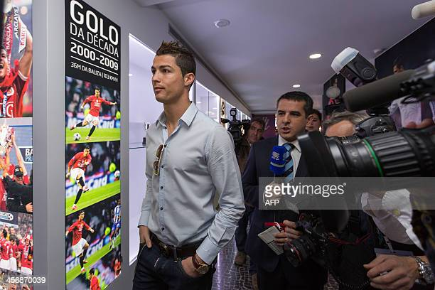 Portugese footballer and current country football team captain Cristiano Ronaldo arrives to the inauguration of the CR7 museum dedicated his...