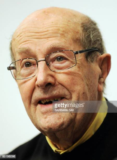 Portuguese 100-year-old director Manoel de Oliveira addresses a press conference about an exhibition on his work exhibition on his work on March 3,...