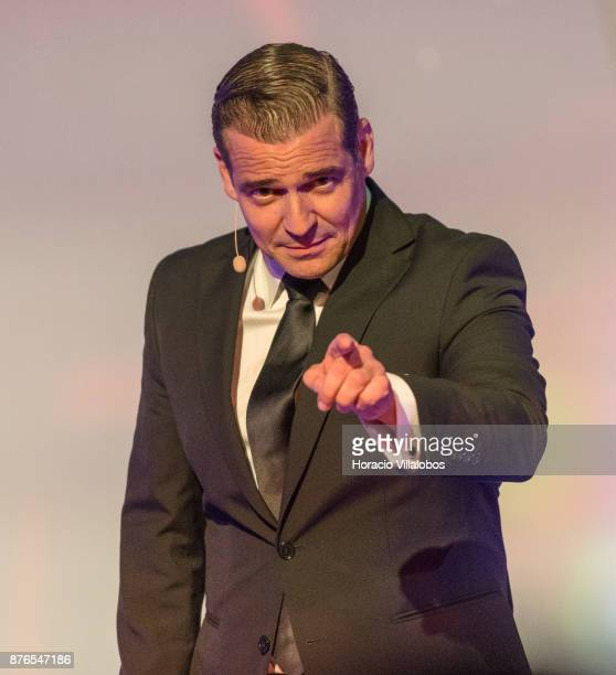 Portuguese actor Pepe Rapazote known for Narcos Shameless Blood Ties Amicci per la Pelle and Pai a Forca performs onstage at the TAP Awards Event in...
