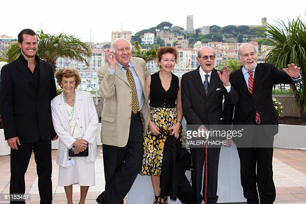 Portuguese actor Ricardo Trepa Isabel de Oliveira French actor Michel Piccoli and his wife Ludivine Clerc Portuguese director Manoel de Oliveira and...
