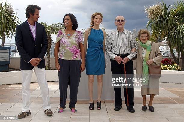 Portuguese actor Ricardo Trepa Portuguese actress Ana Maria Magalhaes Spanish actress Pilar Lopez Portuguese director Manoel De Oliveira and his wife...
