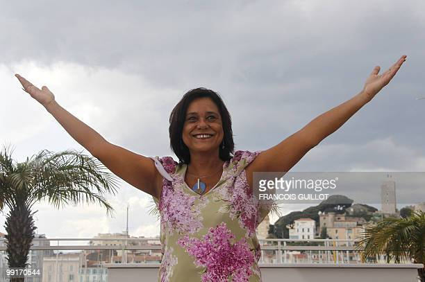 Portuguese actress Ana Maria Magalhaes pose during the photocall of the film 'O Estranho Caso de Angelica' presented in the Un Certain Regard...