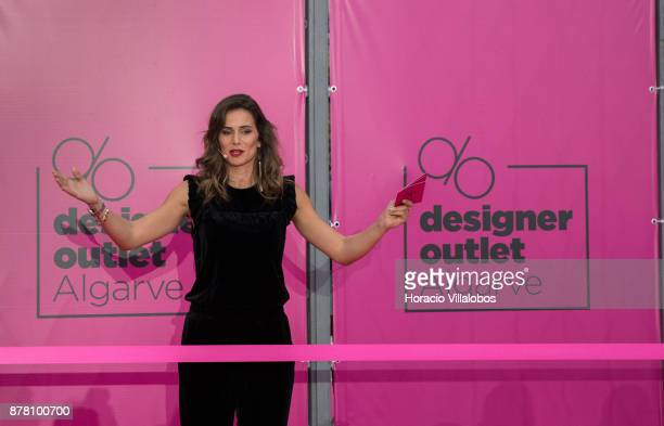 Portuguese actress Claudia Vieira hosts the Designer Outlet Algarve Grand Opening on November 23 2017 in Loule Portugal