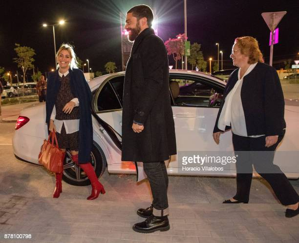 Portuguese actress Jessica Athaide and actor Diogo Amaral arrive at the Designer Outlet Algarve Grand Opening on November 23 2017 in Loule Portugal