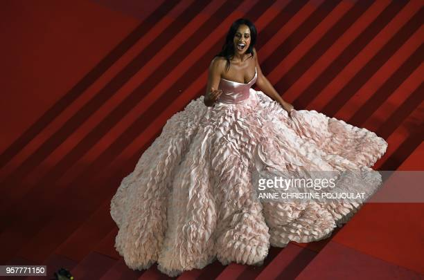 Portuguese actress Rita Pereira arrives on May 12 2018 for the screening of the film 3 Faces at the 71st edition of the Cannes Film Festival in...