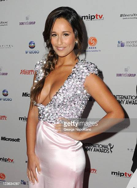 Portuguese actress Rita Pereira attends the 38th International Emmy Awards at the New York Hilton and Towers on November 22 2010 in New York City