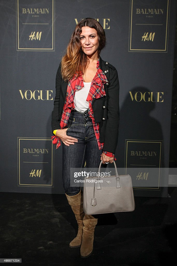 Portuguese actress Silvia Rizzo during the Balmain Launch Event in Lisbon on November 3, 2015 in Lisbon, Portugal.