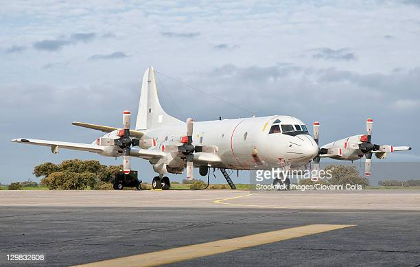 A Portuguese Air Force P-3C CUP Orion at Beja Air Base, Portugal.