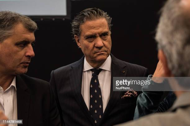 Portuguese Ambassador to France Jorge TorresPereira attends the eighth fair of Portuguese real estate in Paris France on 17 May 2019 An operation to...