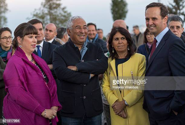 Portuguese artist Joana Vasconcelos is accompanied by Portugal's Prime Minister Antonio Costa , his wife Fernanda Maria Goncalves Tadeu , and the...