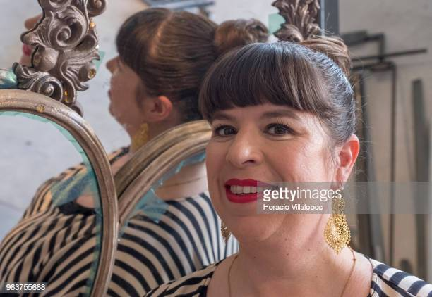 Portuguese artist Joana Vasconcelos is reflected on I'm Your Mirror centerpiece of her solo exhibition I'm Your Mirror at the Guggenheim Museum...