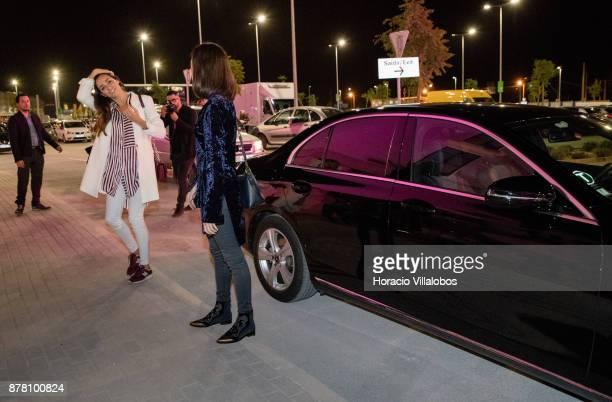 Portuguese blogger Vanessa Martins and actress Sara Salgado arrive at the Designer Outlet Algarve Grand Opening on November 23, 2017 in Loule,...