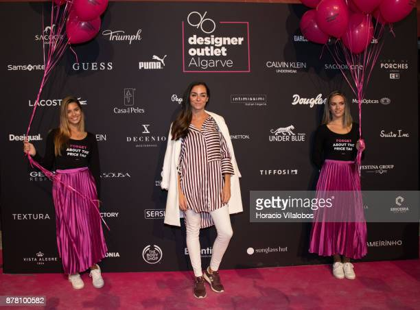 Portuguese blogger Vanessa Martins during the photocall at the Designer Outlet Algarve Grand Opening on November 23, 2017 in Loule, Portugal.