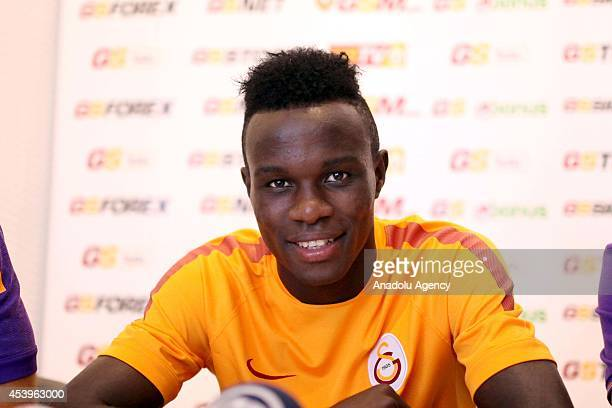 Portuguese Bruma of Galatasaray speaks to the press about the Turkish Super Cup match to be played with Fenerbahce on August 25 his expectations for...