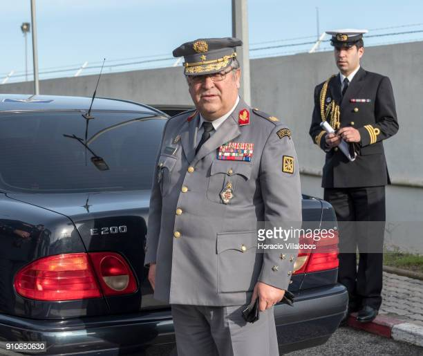 Portuguese Chief of the General Staff of the Armed Forces General Artur Neves Pina Monteiro during NATO Secretary General Jens Stoltenberg and...