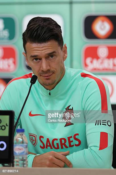 Portuguese defender Rui Fonte during a press conference at Cidade do Futebol on November 09 2016 in Lisbon Portugal