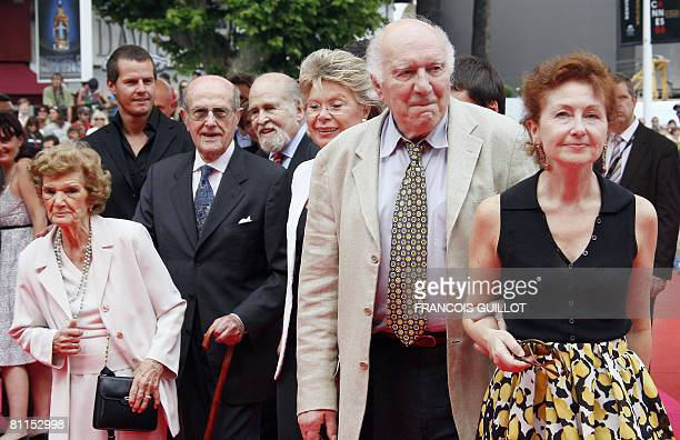 Portuguese director Manoel de Oliveira and his wife Isabel arrive with Portuguese actor Ricardo Trepa actor Jao Benard Da Costa EU Telecommunications...