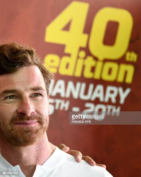 Portuguese driver and former head coach of British football teams Chelsea and Tottenham Andre Villas Boas is pictured after a press conference in...