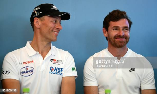 Portuguese driver and former head coach of British football teams Chelsea and Tottenham Andre Villas Boas and Dutch driver Bernhard Ten Brinke are...