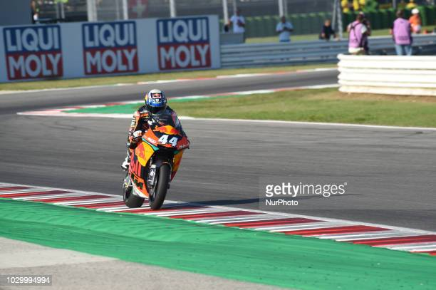 44 Portuguese driver Miguel Oliveira of team Red Bull KTM Ajo driving during warm up in Misano World Circuit Marco Simoncelli in Misano Adriatico for...