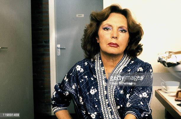 Portuguese fado singer Amalia Rodrigues poses at Leidsche Schouwburg in Leiden Netherlands on 27th May 1987