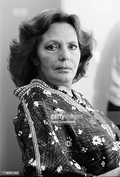 Portuguese fado singer Amalia Rodrigues poses in Leiden Netherlands on 27th May 1987