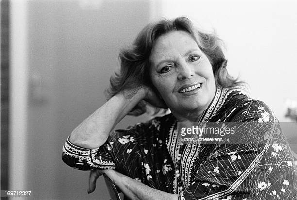 Portuguese fado singer and actress Amalia Rodrigues posed backstage at the Leidsche Schouwburgl in Leiden the Netherlands on 29th May 1987