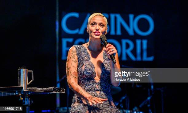Portuguese Fado singer Mariza performs songs from her latest album Mariza at Lounge D of Casino Estoril on August 08 2019 in Estoril Portugal This...