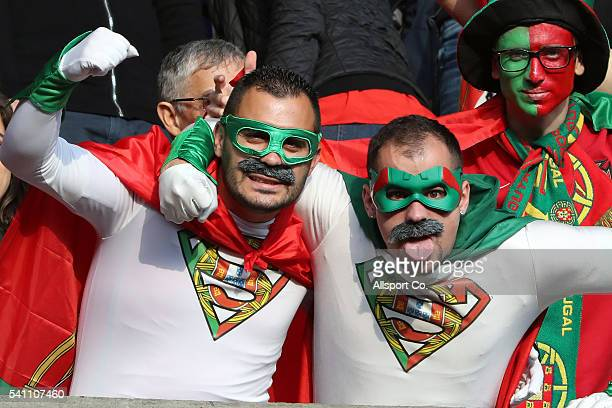 Portuguese fans during the UEFA EURO 2016 Group F match between Portugal and Austria at Parc des Princes on June 18 2016 in Paris France