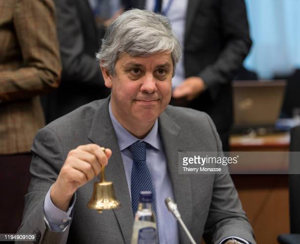 Portuguese Finance Minister, President of the group Mario Centeno is calling his counterpart to start an Eurogroup Ministers meeting in the Jusuts...