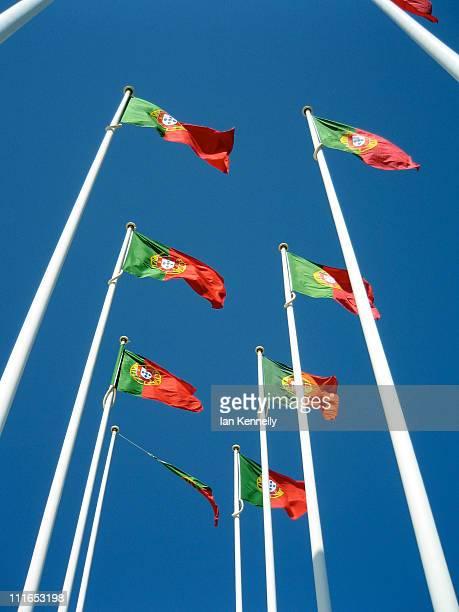 portuguese flags - bandeira de portugal imagens e fotografias de stock