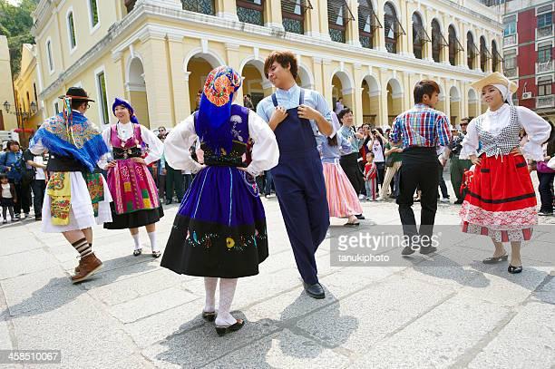 dança folclórica portuguesa de macau - cultura portuguesa - fotografias e filmes do acervo