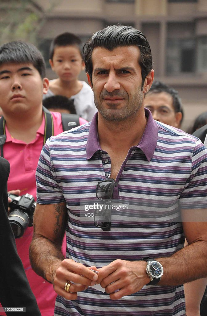 Luis figo meets fans in dalian photos and images getty images portuguese footballer luis figo attends a meet and greet with fans on september 23 2012 m4hsunfo